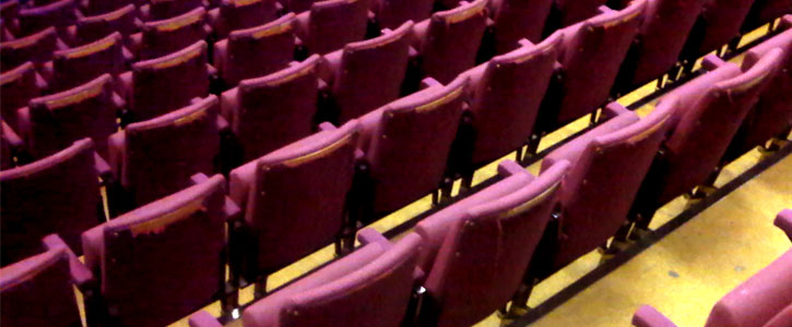 Compass Theatre seats in poor condition