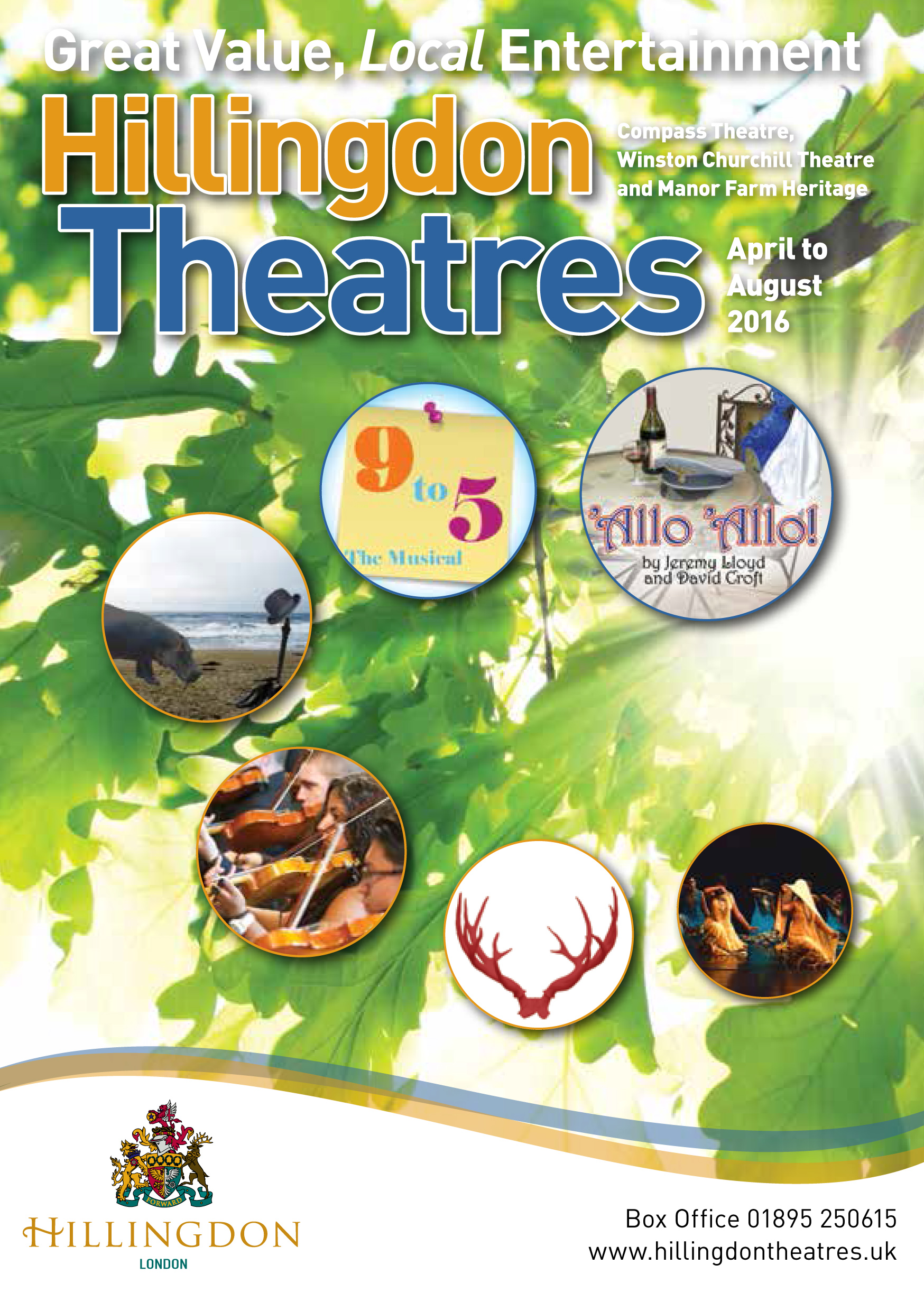 12470 Hillingdon Theatres brochure April-August 2016 COVER