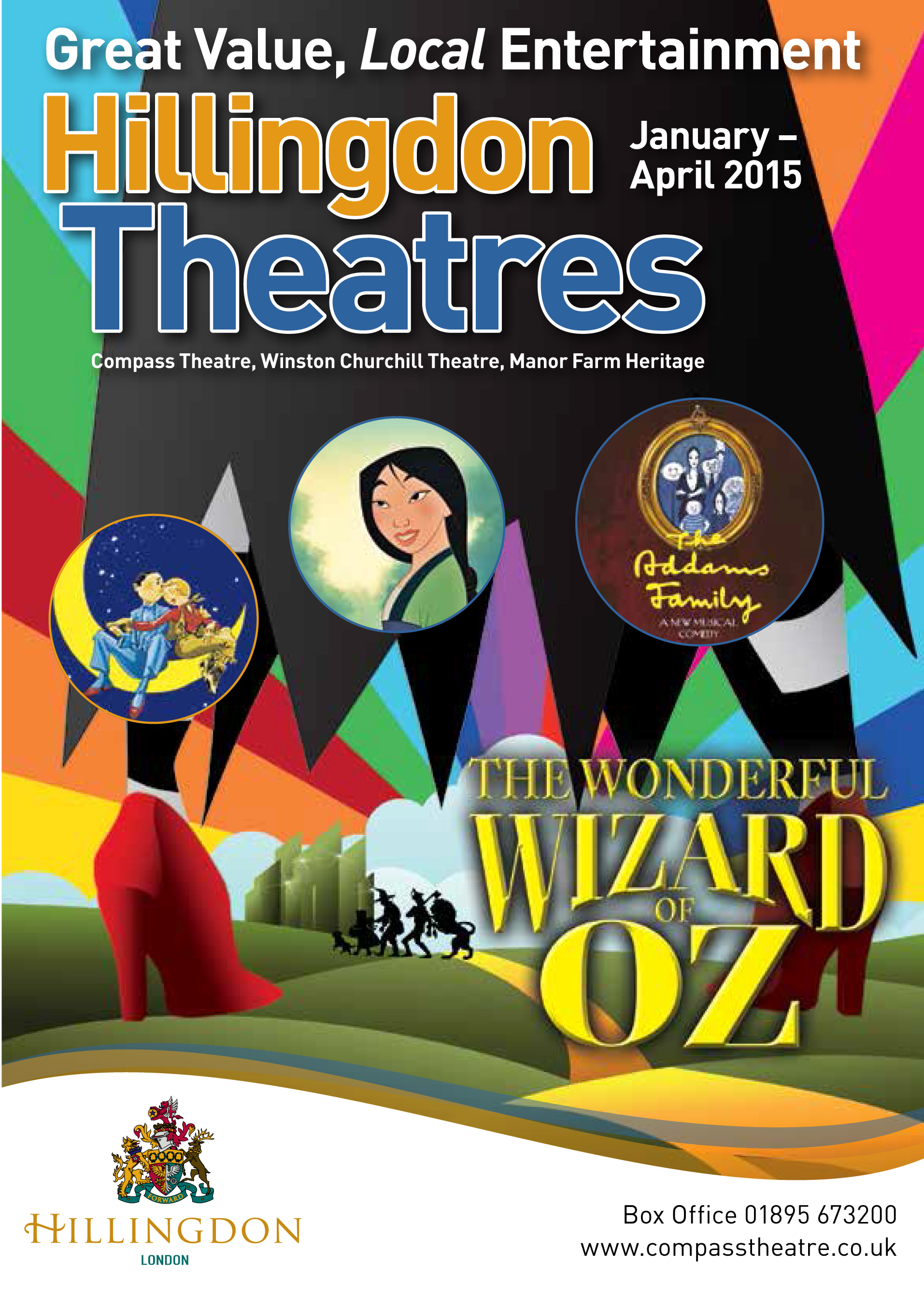 HillingdonTheatres Season Brochure 2015 Jan to Apr Cover