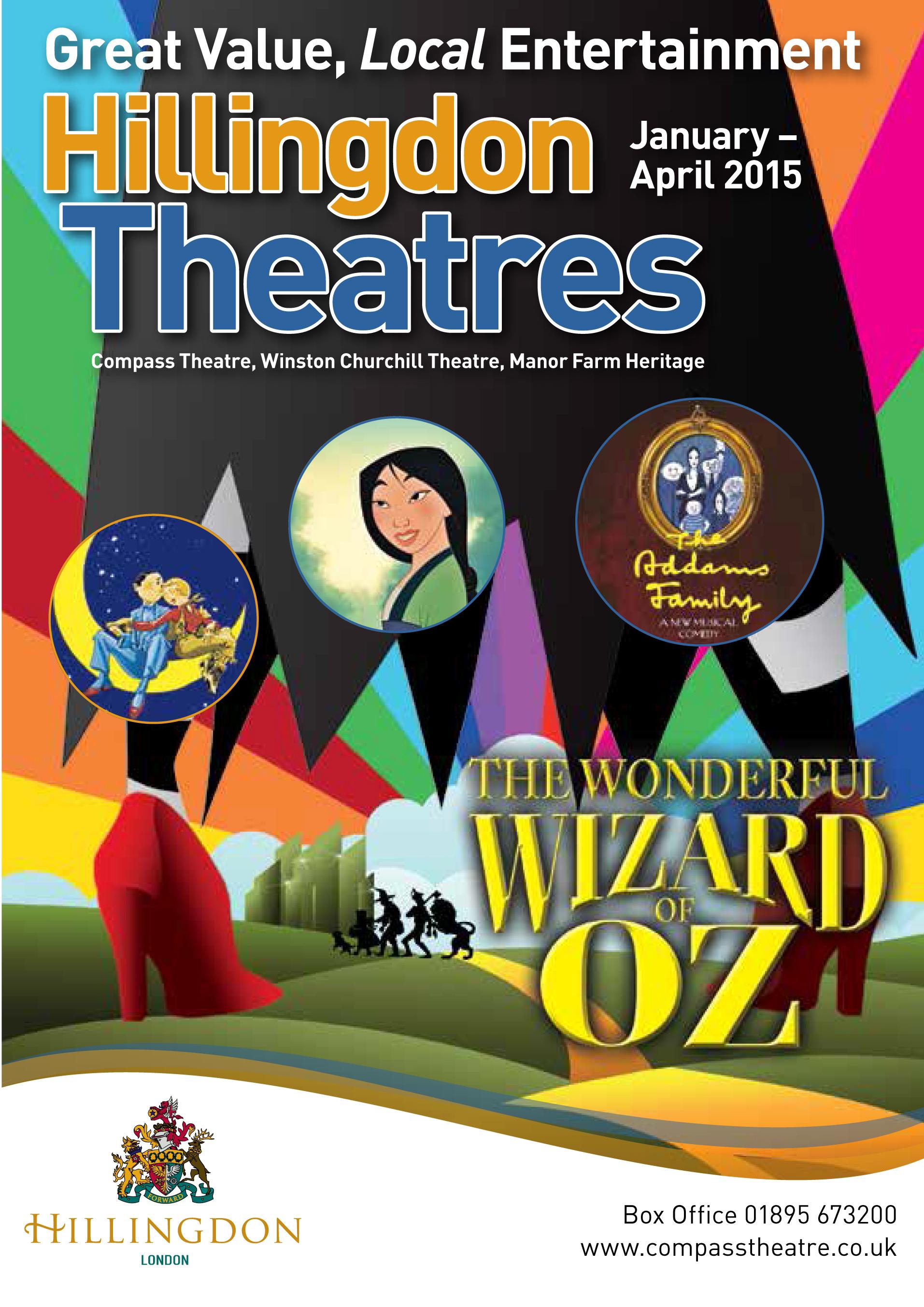 HillingdonTheatres Season Brochure 2015 Jan to Apr Cover