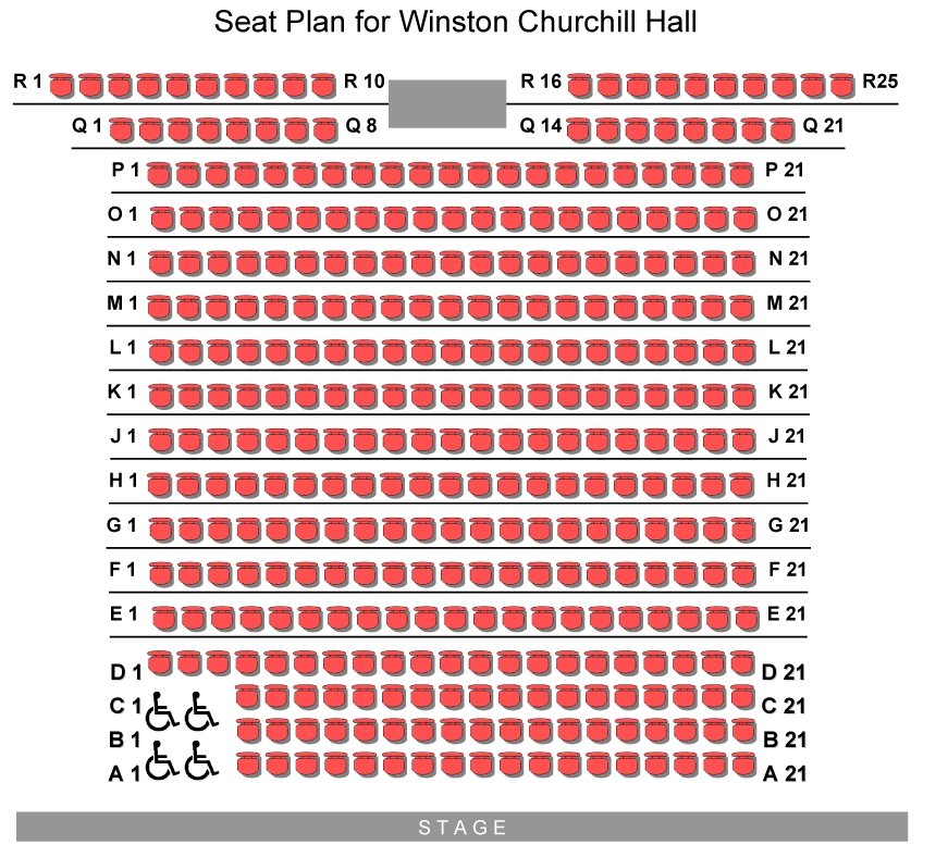Seat Plan - Winston Churchill Hall