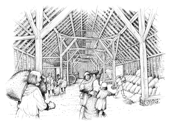 Gt Barn Historical Illustration