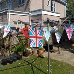 Drying Bunting for VE Day Anniversary