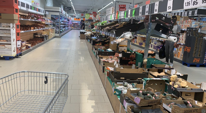 Empty Aldi store in the Chimes Uxbridge