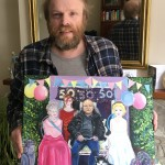 Nicola Bedenham's brother and his Turning 50 painting for Grayson Perry's Art Club