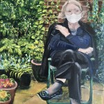 My mum socially distancing in her garden - Nicola Bedenham