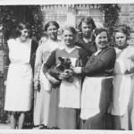 My Great Grandmother Jane Elizabeth Sharp (née Howard) 2nd L, with neighbours Brickfield Lane 1940s