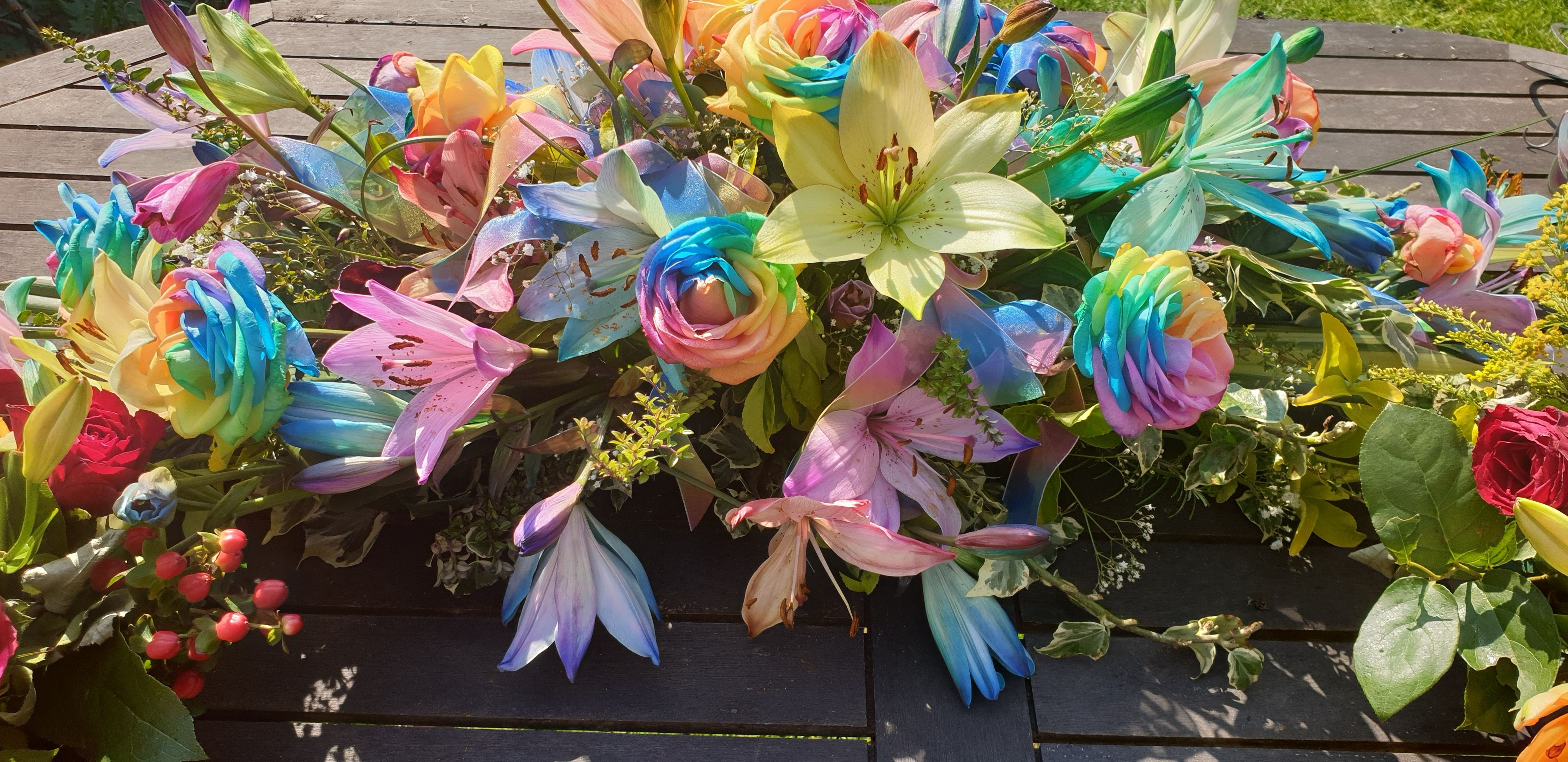 In Memory of Emily - floral tribute