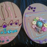 Decorated card to make Eater Eggs