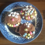 Decorating fairy cakes to look like monsters