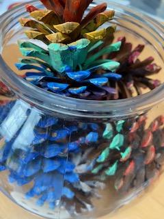 Rainbow Pine Cones