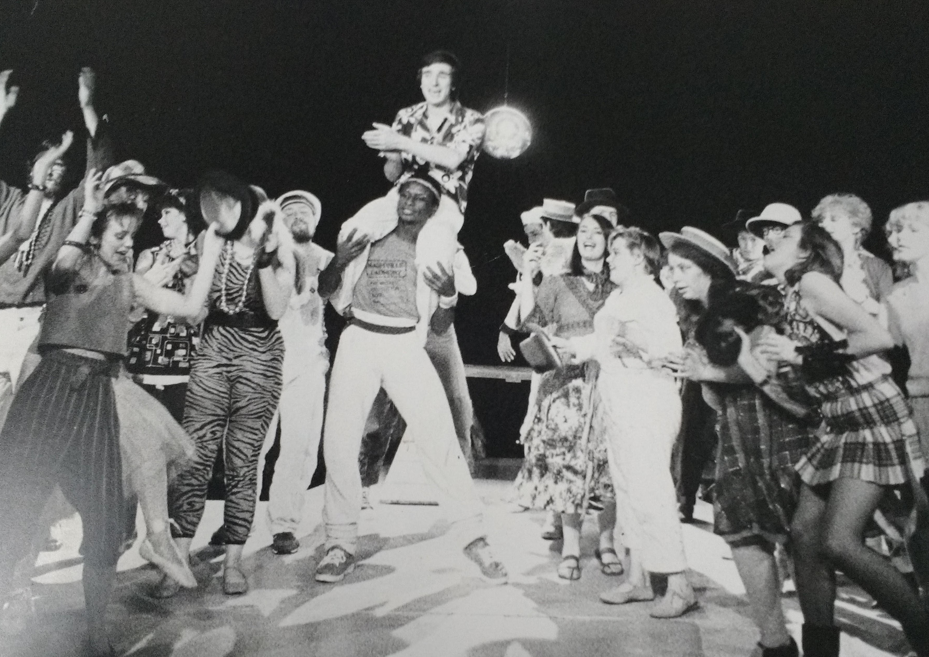 Stephen Rowe in Godspell at Compass 1983