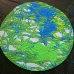 Using real marbles to make Earths for Earth Day