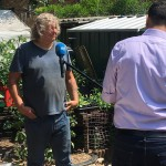 interview for TV about me gardening