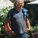 me being interviewed about my gardening for TV
