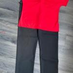 scrubs - red black