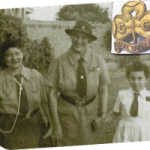 my mother (Angelica), Lady Baden-Powell and me (Sue) age of 5, in the 50s