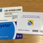 my Oyster and Kingston University library cards