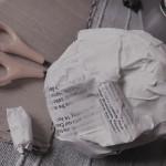 Folded fast food finger wipe sachets